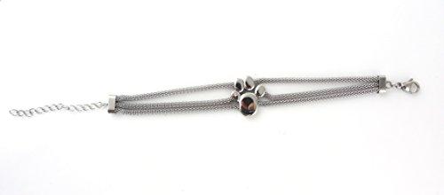Pfote Power Energie Edelstahl Magnet Armband Hund Katze Bär mit Swarovski® Kristall Energetix 4you 7141 Länge uni 19 - 24 cm