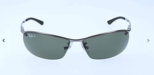 Ray-Ban Unisex Sonnenbrille Rb 3183 Gestell: Gunmetal, Gläserfarbe: polarisiert grün klassisch 004/9A), Large (Herstellergröße: 63)
