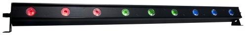 American DJ 1226200040 Ultra 9 LED-Bar (RGB, 9x 3 Watt LED, 4-Button DMX LED-Display, 1 m)