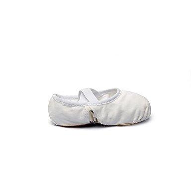 Wuyulunbi@ Donna Kids' Ballet tela coperta piatta tacco piatto bianco ,Bianco,US3 / EU34 / UK2 bimbi piccoli US6 / EU38 / UK5 Big Kids