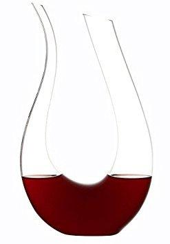 Best Horn Wein Dekanter von Bella Vino-Verbessert Wein Geschmack von Softening tannine-Tolles Tisch Mittelpunkt-Elegant und effektiv-100% bleifrei Premium Crystal Glas Horn Decanter farblos Elegante Waterford Crystal