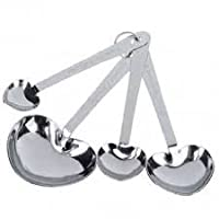 4pcs Heart Shaped Stainless Steel Measuring Spoon Set
