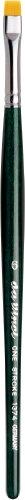 Da Vinci Nova Series 122 Hobby - Pincel para Pintura (sintético, tamaño 0), Verde, 18 x 0.65 x 30 cm