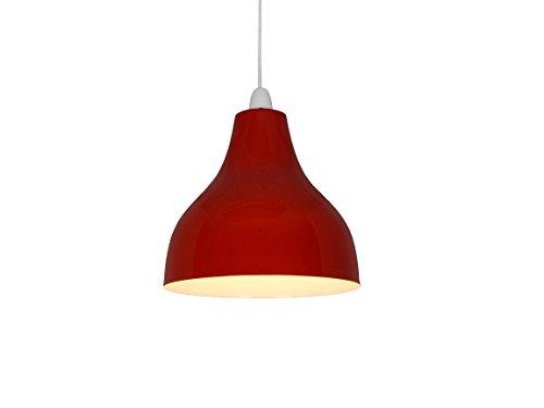 sp410-dr-25cm rot Cafe Bistro-Stil Deckenleuchte Anhänger Schatten -