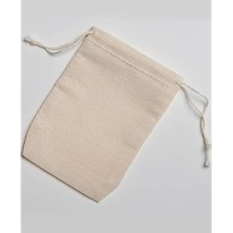 2.75x4 Inch Double Drawstring Cotton Muslin Bags 250 Count Pack by Celestial Gifts - Herb Favor