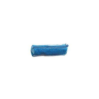 Art Shopping - Trousse pochette maquillage coton camaïeu de bleu 22cm