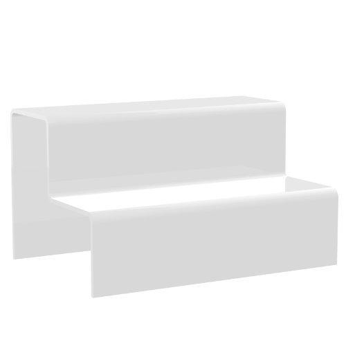 Displaypro–Marcos pequeños blanco 2paso elevador de acrílico decoración de escaparates zócalo para venta de joyas–Entrega gratuita.