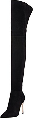 ELEHOT Donna Eboyer tacco a spillo 10.5CM Leather Stivali, nero, 39