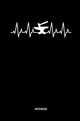 Notebook: Dot Grid Heartbeat Blacksmith Notebook / Journal. Great Blacksmithing Accessories & Novelty Gift Idea.