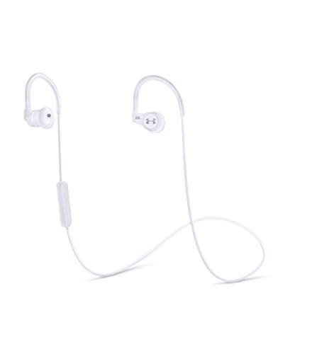 Under Armour Sport Wireless Heart Rate - Engineered by JBL - Kabelloser In-Ear Kopfhörer für Athleten mit Herzfrequenzmesser - Weiß