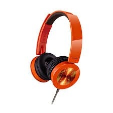 Panasonic Clear & Powerful Sound Stereo Headphones With Mic (Orange)