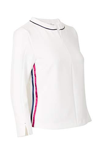 Promiss Damen Top Tracey 2, Offwhite, 48 - Crew-long Sleeve Work Shirt