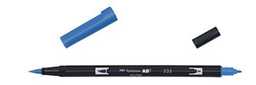 Tombow ABT-535 Fasermaler Dual Brush Pen mit zwei Spitzen, cobalt blue