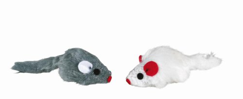 katzeninfo24.de TX-4503 Set of Plush Mice 5cm 6pcs