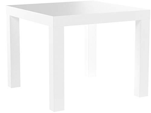 Ikea Mesa Auxiliar, Madera, Blanco, 55x55x45 cm