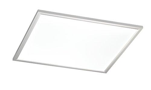 WOFI Deckenleuchte, Metall, Integriert, 36 W, Silber, 60 x 60 x 6 cm