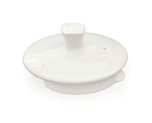 Buchensee Ersatzdeckel für Teekannen 1,5 Liter mit abgeflachter Öffnung. Deckel in fein-cremigen Weiß aus Fine Bone China. Weiß Bone China