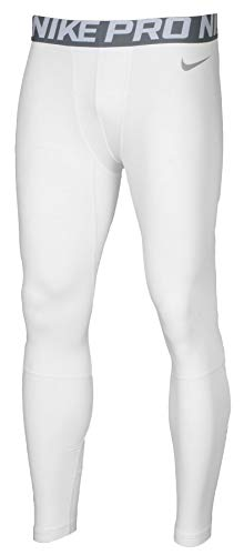 Nike Pro Combat Hyperwarm Dri-Fit de Collants de Compression pour Femme Blanc Blanc x-Large
