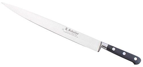 K Sabatier - Tranchelard 30 Cm K Sabatier - Gamme Vintage Au Carbone - Acier Carbone - Manche Noir - 100% Forge - Entièrement Fabrique En France