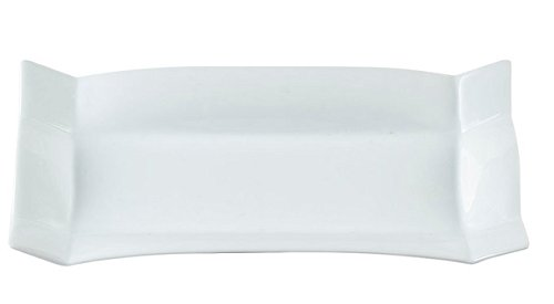 Plat rectangulaire porcelaine blanche