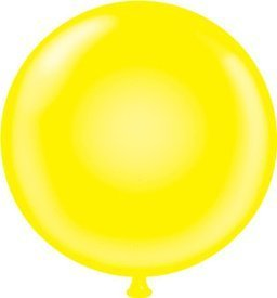 11 Inch Latex Balloons Yellow (Premium Helium Quality) Pkg/100 by Mayflower Products
