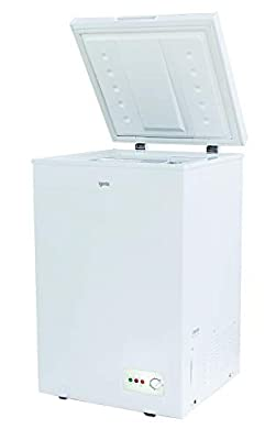 Igenix IG100 Freestanding Chest Freezer, 100 Litre Capacity with Freezer Basket, Suitable for Outbuildings and Garages, White