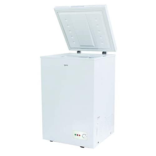 21LY4y%2BXNfL. SS500  - Igenix IG100 Freestanding Chest Freezer, 100 Litre Capacity with Freezer Basket, Suitable for Outbuildings and Garages, White