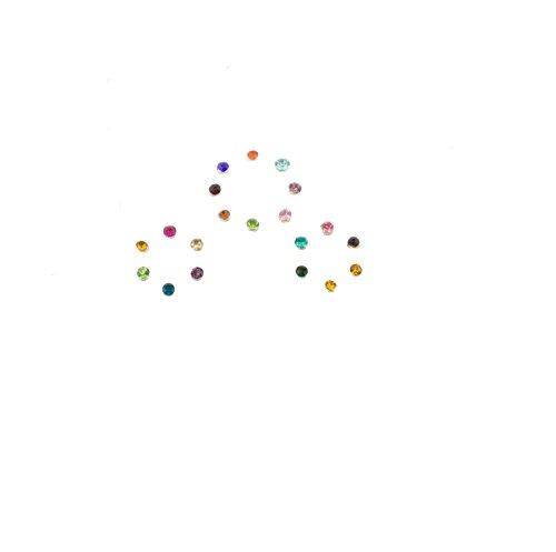 Mytoptrendz Nasenstecker-Imitat zum Aufkleben, Kristall