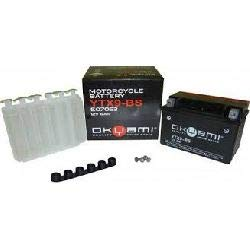 BATTERIA OKYAMI YT9B-BS per Yamaha Majesty 400 04-06 ; T-Max 500 01-07 ; TT RE 600 03-04 ; YZF R6 600 01-06 ; MT-03 660 06- ; XT R/X 660 04- ; YZF R7 750 99-00
