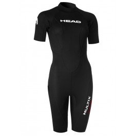 HEAD Multix VS Multisport 2,5 Shorty Suit Damen Black/red Größe M 2019 Triathlon-Bekleidung