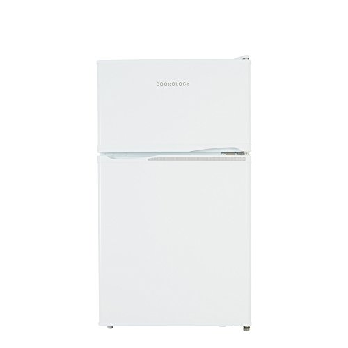 21LZ4jsVLBL. SS500  - Cookology UCFF87WH 47cm Freestanding Undercounter 2 Door Fridge Freezer in White