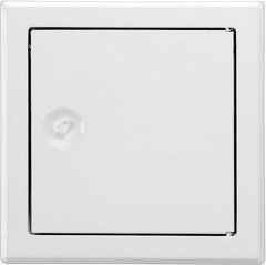 Upmann Revitür Softline sv 500x600 mm, RAL9016 Vierkantverschluss, 1 Stück, 20592 (Zugriff Platte Auf)