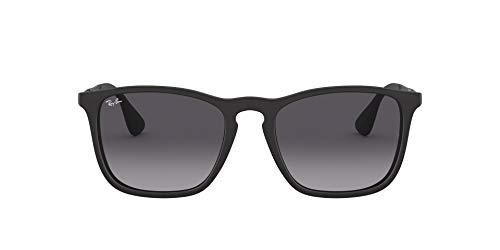 Ray ban rb4187 chris - occhiali da sole per uomo, nero grigio sfumata, taglia 54/18