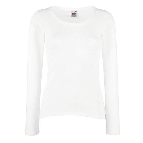 Fruit of the Loom - Lady-Fit Valueweight Longsleeve - Modell 2013 XL,White