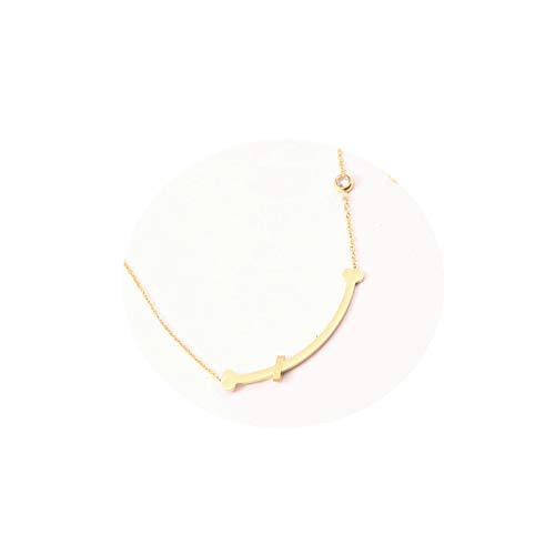 AmDxD Claviclekette Edelstahl Gold Knochen Hund Rund Weiß Zirkonia Damenkette Damen Halskette -