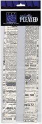 Bazzill Basics Papier Perfekt Plissee Newsprint, 4Stück,