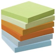 Post-it 6541GB Haftnotiz Recycling Notes Mini Tower Pastel Rainbow, 76 x 76 mm, 100 Blatt, 6 Block