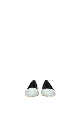 357821WAD401000 Balenciaga Ballerine Femme Cuir Noir Vert