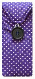 Purple Polka Dot Print Glasses Case
