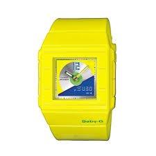 CASIO BABY-G BGA-201-9EER - Reloj analógico y digital con correa de resina para mujer y niño / niña, color amarillo