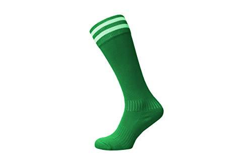 Raftaar Premium 2 Streifen Unisex Kniestrümpfe Fußball Rugby Fußball Laufen Sport Socken Erwachsene Jugendliche Kinder Größen in - grün - Adult 7-11