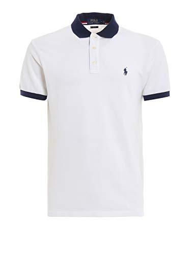 Ralph Lauren Polo Cotone Piquè 710752591 White Size:XL