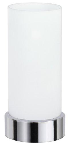 a Tischleuchte touch max.1x40W E14 Chrom/Opal 230V Metall/Glas 77029 Nachttischlampe Nachtlicht (Touch-lampen)
