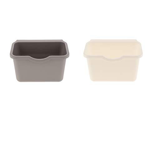 F Fityle 2 x Küchenschrank Hängen Müllsackständer Plastik Lagerung Hängende Aufbewahrungsbox Küche Abfallbehälter