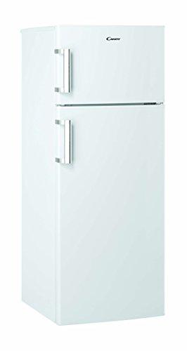 Candy CCDS 5144 WH Kühl-Gefrier-Kombination/A++ / 143 cm Höhe / 169 kWh/Jahr / 166 L Kühlteil / 38 L Gefrierteil/Edelstahlhandgriff/LED Licht/weiß -