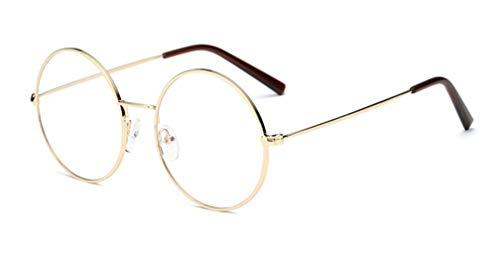 Tofox Metallgestell Brillenfassung Damen Retro Rund Brille Brillenfassung Fake Brille Ohne Stärke Für Herren