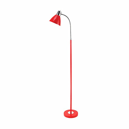 DELLT- Protection des yeux Lampadaire à LED Éclairage de salon Chambre à coucher Chambre à coucher Lampe de chevet Écriture simple Éclairage de lecture vertical ( Couleur : Rouge )