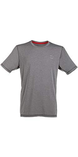 Red Paddle Co - SUP Stehpaddel Boarding - Original Herren Performance T-Shirt Top Grau - Easy Stretch Lightweight UV -