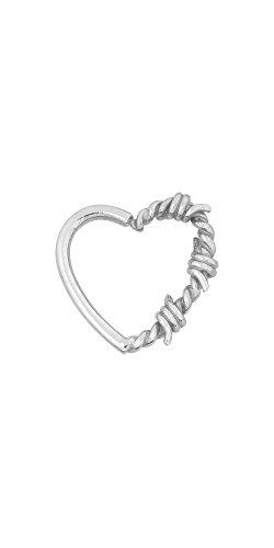 Karisma ricotto continua orecchio Piercing a forma di cuore filo di barbaro 316L L 1,2 x 10 mm anello in acciaio inossidabile