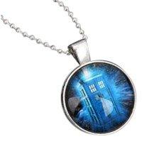 Kabuso Jewels der Arzt Blau Tardis cobochon Halskette mit kostenlosem Schlüsselanhänger